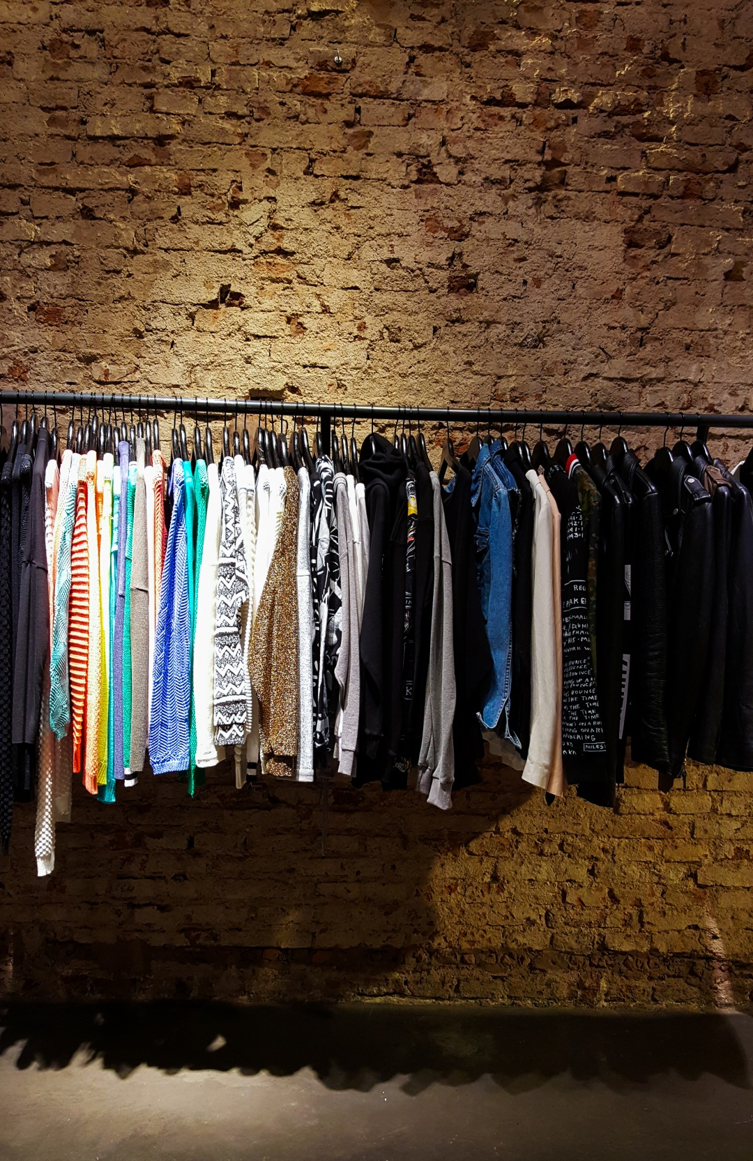 Clothes in store