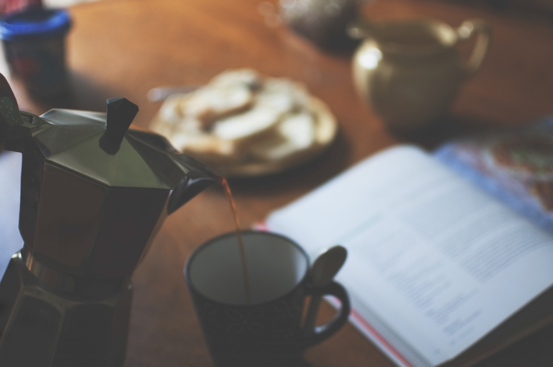 stock photos free  of Pouring coffee for breakfast