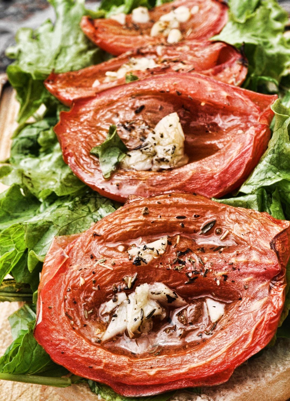 stock photos free  of Sandwitch Tomato and garlic