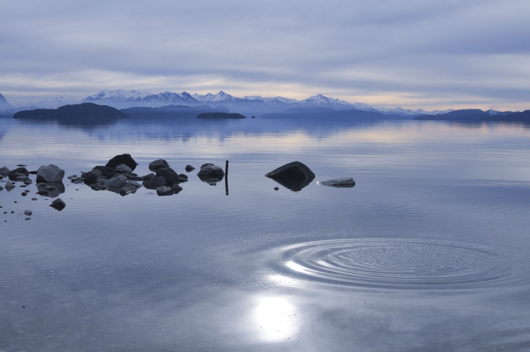 stock photos free  of splash on Nahuel Huapi Patagonia Lake