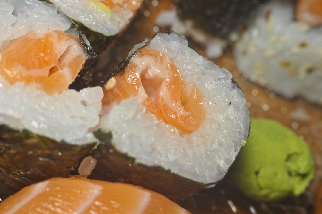 stock photos free  of raw salmon Sushi Macro