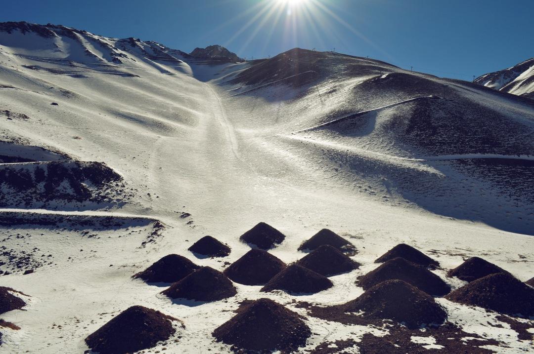 stock photos free  of Mountain Mendoza sunset view