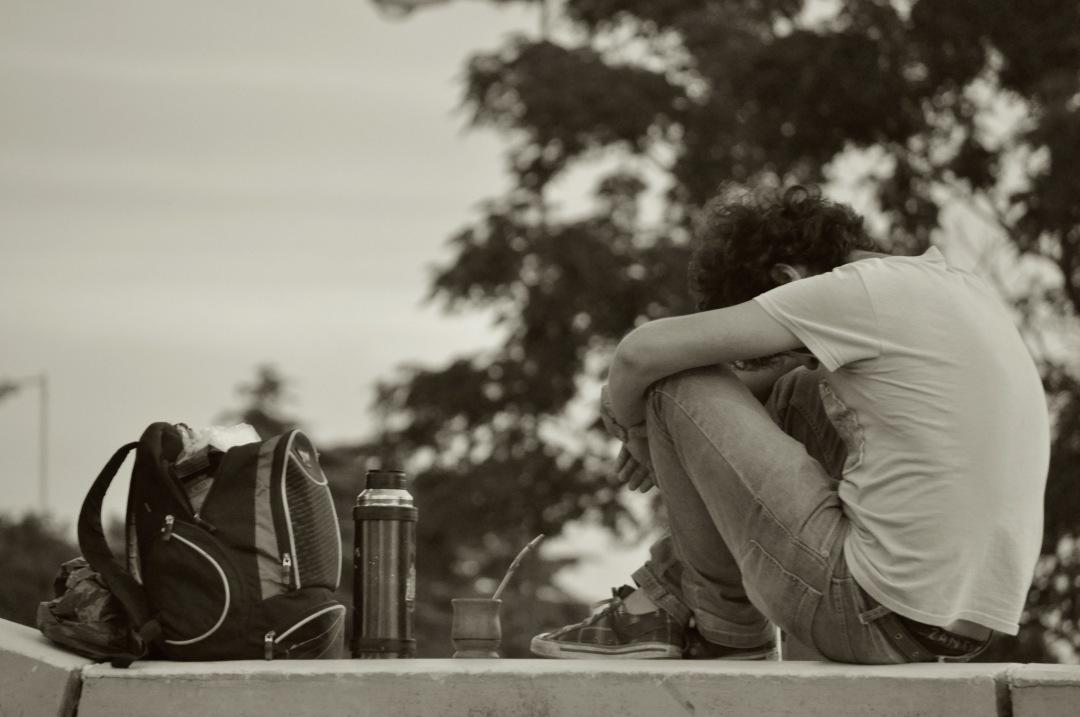 stock photos free  of Men rest on school