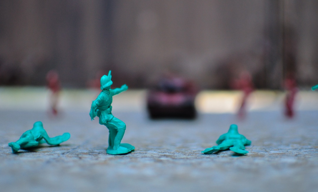 stock photos free  of plastic green soldier toys