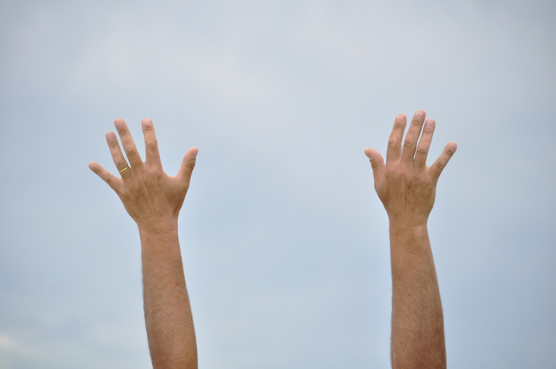 stock photos free  of Hands on the Heaven