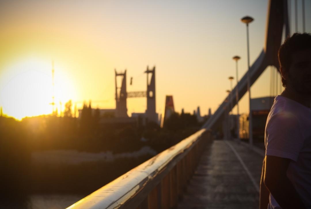 stock photos free  of Sunset bridge
