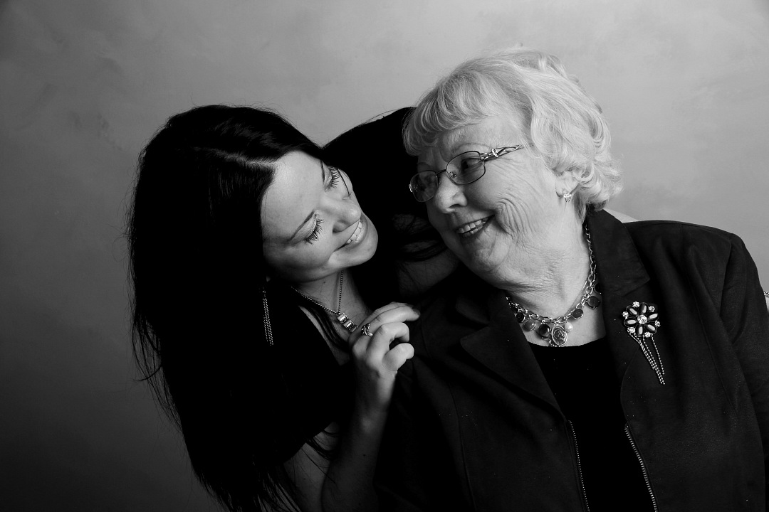 stock photos free  of Grandmother with her granddaughter