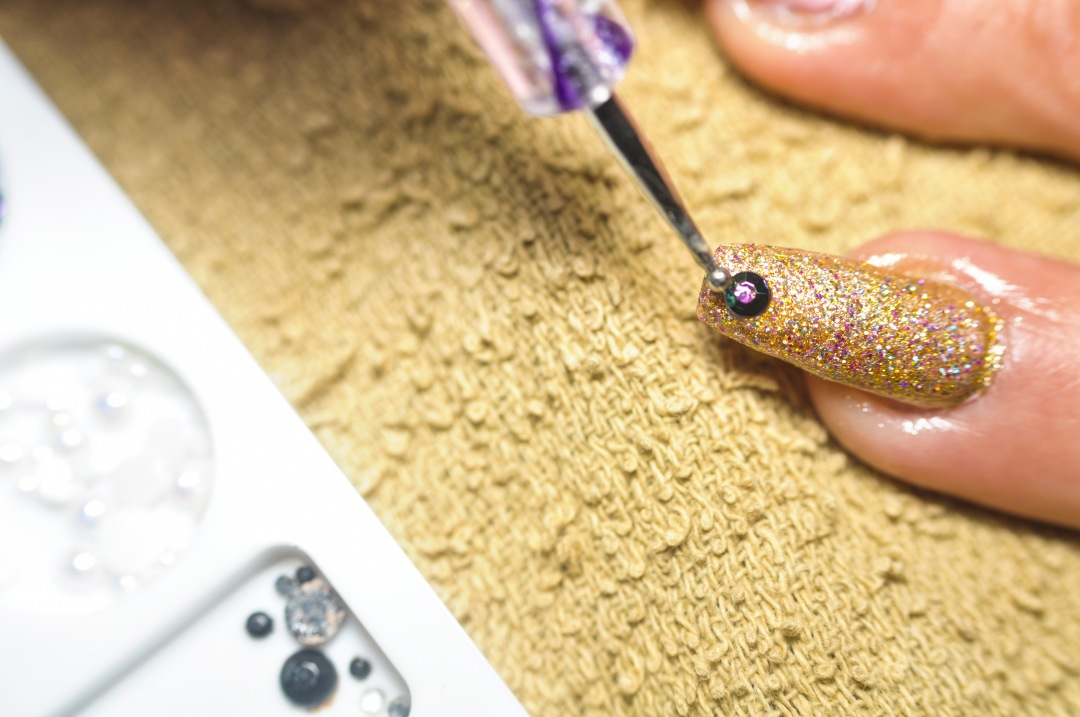 stock photos free  of Beautician painting customer's nails. Manicure. Hairdressing salon and Beauty Clinic