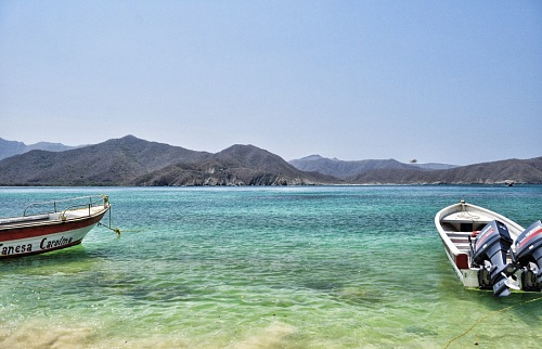 free for commercial use boats on Tayrona Caribean Colombia images