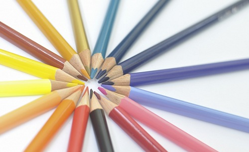 photo Circle formed by Pencil, color, colorful. free for commercial use images