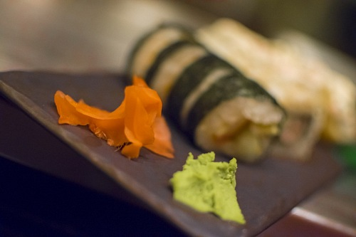 free for commercial use wasabi and ginger sushi plate images