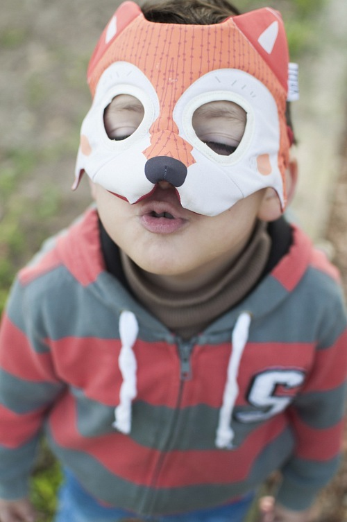 Child with fox costume
