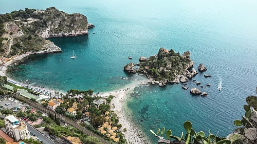 free for commercial use Isola Bella,  Taormina, Sicily, southern Italy images