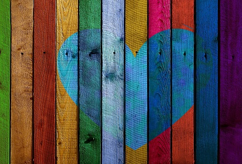 photo Texture wood heart multicolor free for commercial use images