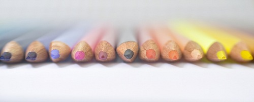 photo line of color pencils focus free for commercial use images